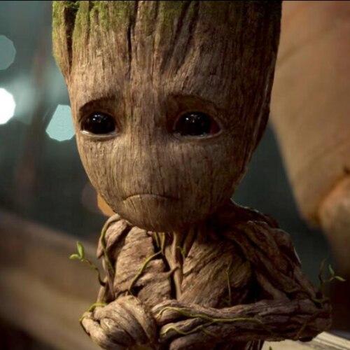 מארוול סרט שומרי גלקסי 2 אני תינוק Groot תליון תכשיטי חמוד כסף סגסוגת שרשרת יפה מתנה עבור אוהדי