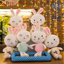 цена на Hot Sale Lovely Rabbit Soft Plush Toy Stuffed Animal Toys Plush Doll Best Gift For Children Birthday
