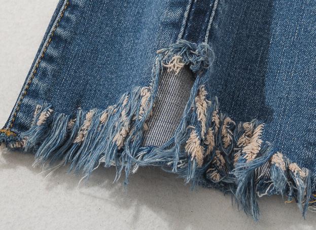 De Denim Longitud Pantalones Moda Vaqueros Casual Primavera Mujer La Las Mujeres Del Para Rayado Otoño Tobillo Irregular Elástico E7pnzqwO