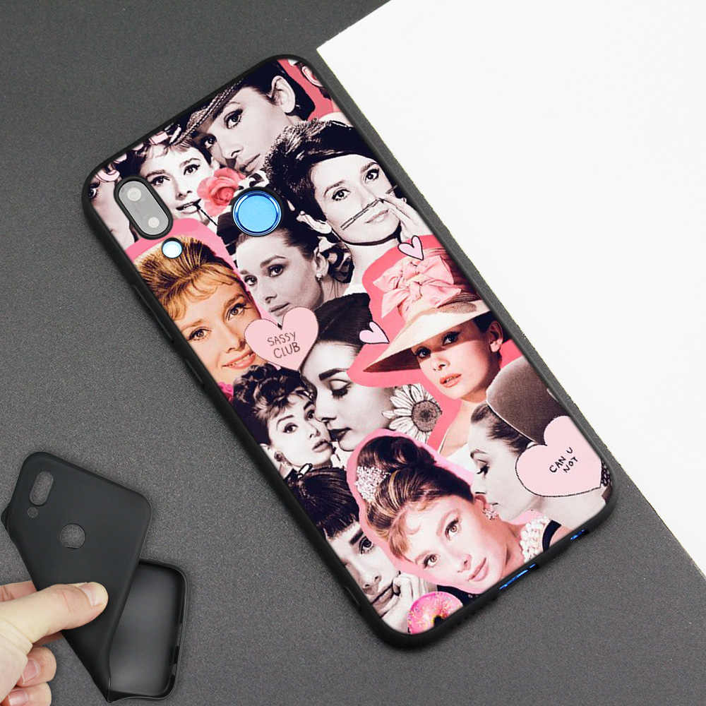 Silicone Case Cover for Huawei P20 P10 P9 P8 Lite Pro 2017 P Smart+ 2019 Nova 3i 3E Phone Soft Shell Coque Audrey Hepburn Girl
