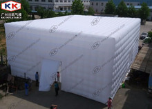 Inflatable concert hall made with blow up cubic air tent
