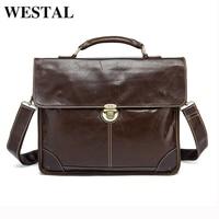 Free Shipping 100 Genuine Leather Men S Coffee Handbag Messenger Bag Laptop Briefcase Portfolio Handbags Causal