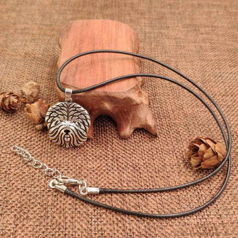 2019 pies wisiorek z motywem zwierzęcym liny naszyjnik Whippet Antique Retro srebrny Husky pudel biżuteria dla kobiet mężczyzna kobiet panie Punk słodkie