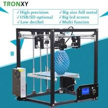 Новинка 2017 upgarded алюминиевый куб 3D комплекты принтера tronxy X5 металлический экструзии Высокая точность принтеры ЖК-дисплей большой размер печати