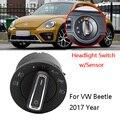 Cabeça AUTO/Foglights Controlador Interruptor Módulo Sensor De Luz Para VolksWagen Beetle 2017