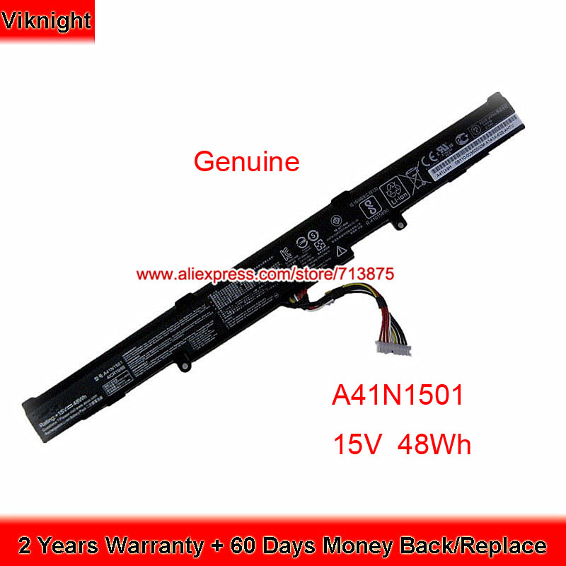 asus n752 price - Original A41N1501 Battery For ASUS GL752VW N552VW GL752 GL752JW N552VX N752 N752VW N752VX GL752VL N552VW-1A N552VW-2A 15V 48wh
