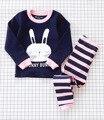 Мальчики Девочки Пижамы Устанавливает Детская Одежда Пальто + брюки Мультфильм Хлопок Мягкие Удобные Пижамы & Robe Рождественские Подарки Для дети
