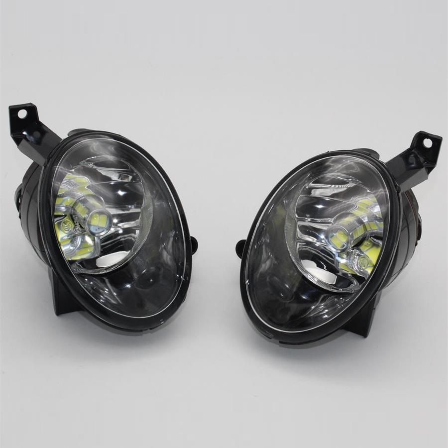 Car LED Light For VW Golf 6 Golf MK6 2009 2010 2011 2012 2013 2014 Car-styling Front LED Fog Light Fog Lamp With LED Bulbs car rear trunk security shield shade cargo cover for nissan qashqai 2008 2009 2010 2011 2012 2013 black beige