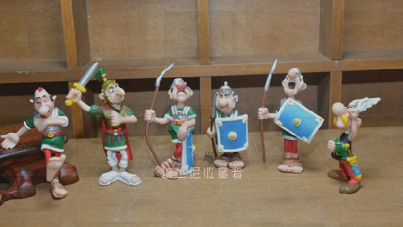 6pcs/lot 4-7cm Cartoon The Adventures of Asterix PVC Figures Toys Gifts for Kids Childrens collection toys