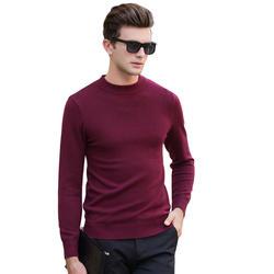 Мужской 2018 Зимний новый модный Повседневный свитер мужской круглый вырез однотонный вязаный свитер Мужская одежда свитера Pull Homme 8905 M-3XL