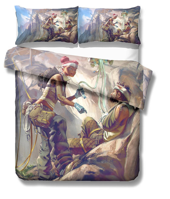 3D APEX Legends Game Printed Kids Bedding Set Duvet Cover Quilt Cover Pillowcase