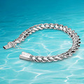 Hombre de moda plata thick10MM pulsera 925 pulsera joyas de plata, sólido real pulsera de plata envío gratis