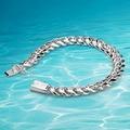 Homem de prata thick10MM pulseira 925 pulseira de prata, Real sólida pulseira de prata