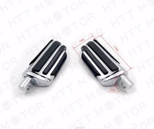 Aftermarket free shipping motor parts Pair Motorcycle Foot Pegs Rest Male Mount Peg For New CHROMED free shipping pivot peg foot pegs for yamaha ttr250 xt250 xg250 dt230 dt200 o3