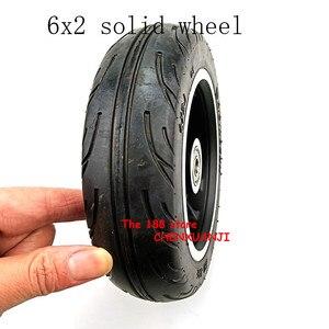 Image 3 - Freies verschiffen 6x2 solide reifen rad hub Schnelle rad F0 verbreitert hinten rad 6 zoll elektrische roller solide reifen rad