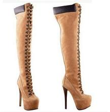 Camel color dress boots
