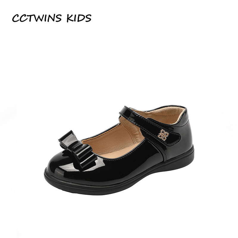 CCTWINS KIDS 2018 Autumn Children Pu Leather Flat Fashion Butterfly Princess Shoe Baby Girl Toddler Brand Mary Jane GM2025 cctwins kids 2018 spring fashion pink princess butterfly shoe children genuine leather mary jane baby girl party flat gm1942