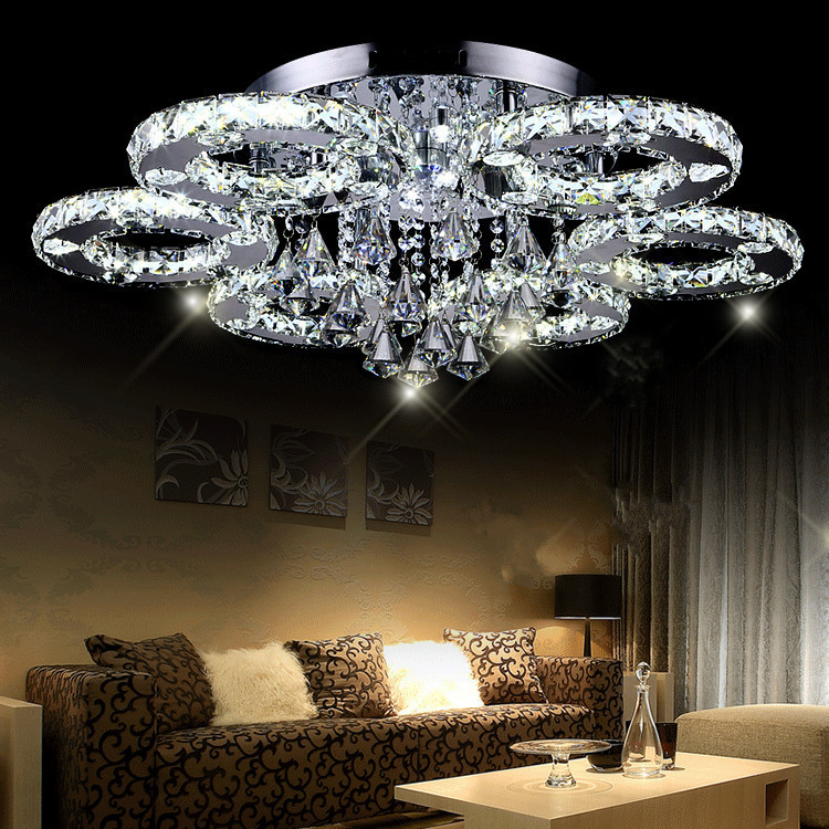 Modern-LED-crystal-ceiling-light-brief-living-room-lamps-led-crystal-circle-ceiling-light-lighting
