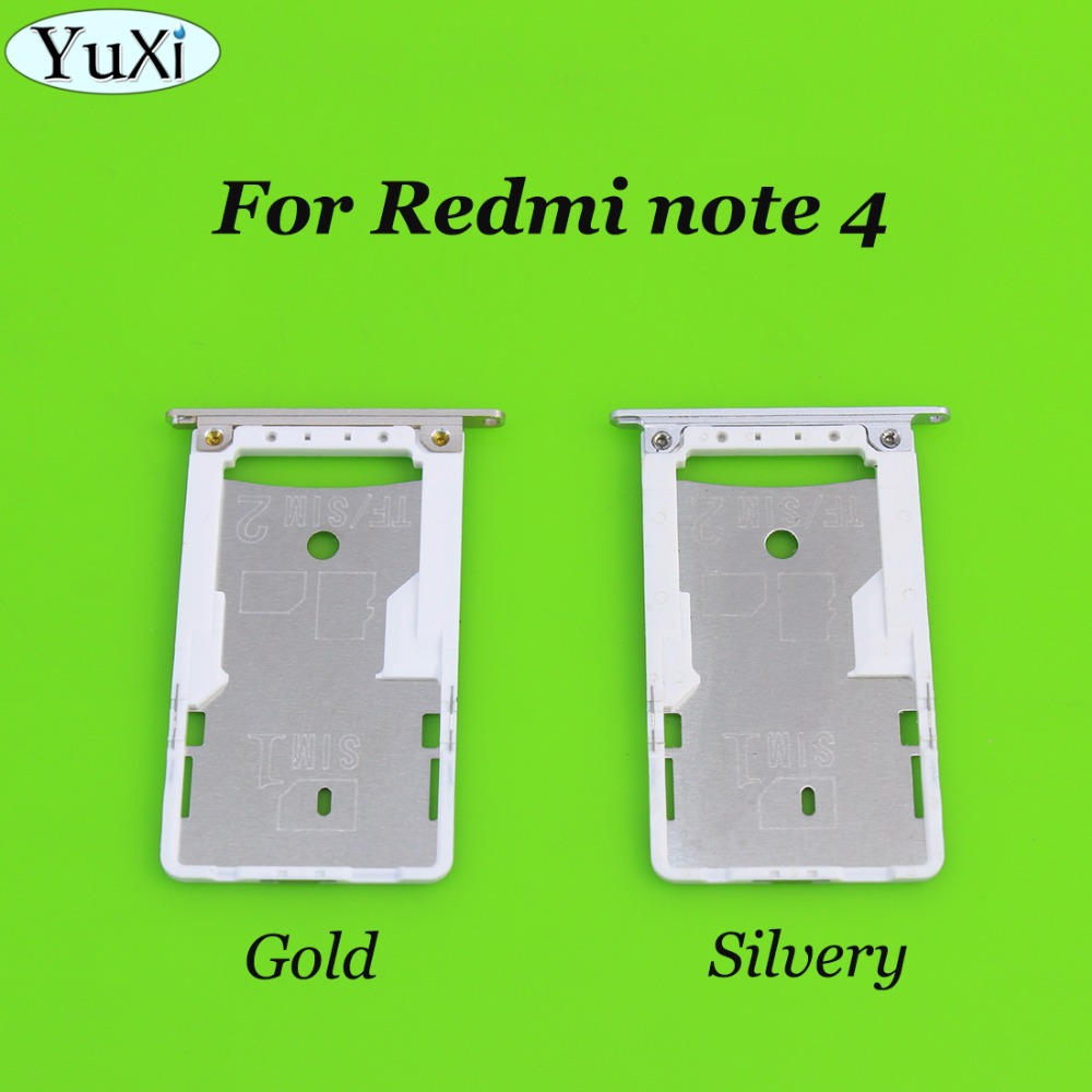 YuXi 1pcs sim card slot tray for xiaomi for redmi note4 SIM Tray Sim Card Holder Slot for redmi note 4 sim card slot