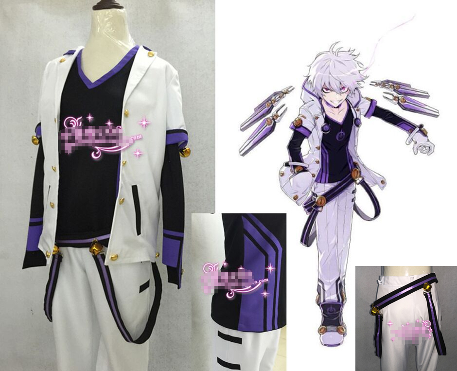 Hot Anime ELSWORD Elsword Party Uniforms Cosplay Costume Full Set S XL Free Shipping