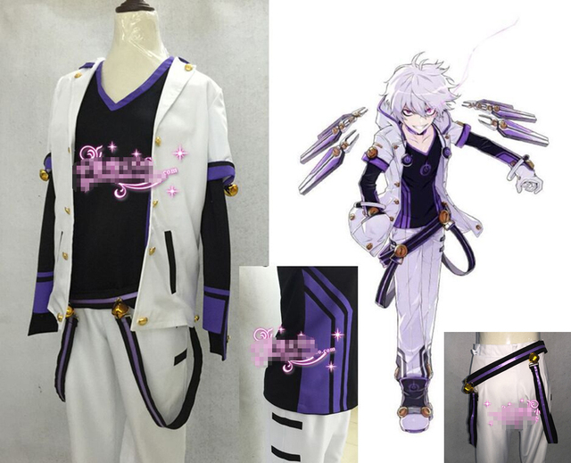Hot Anime ELSWORD Elsword Uniformi Partito Cosplay Full Set S XL Spedizione Gratuita