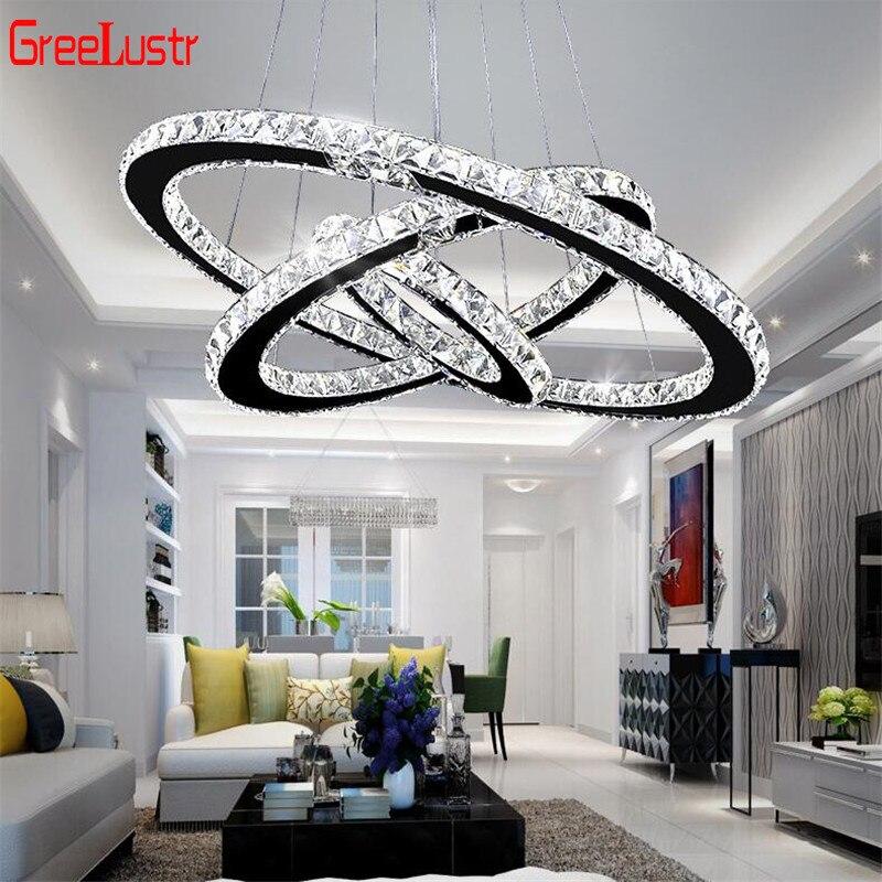 Nowoczesne K9 kryształowy żyrandol Led światła oświetlenie domu Chrome Lustre żyrandole wisior sufitowy oprawy oświetleniowe dla salon pokój
