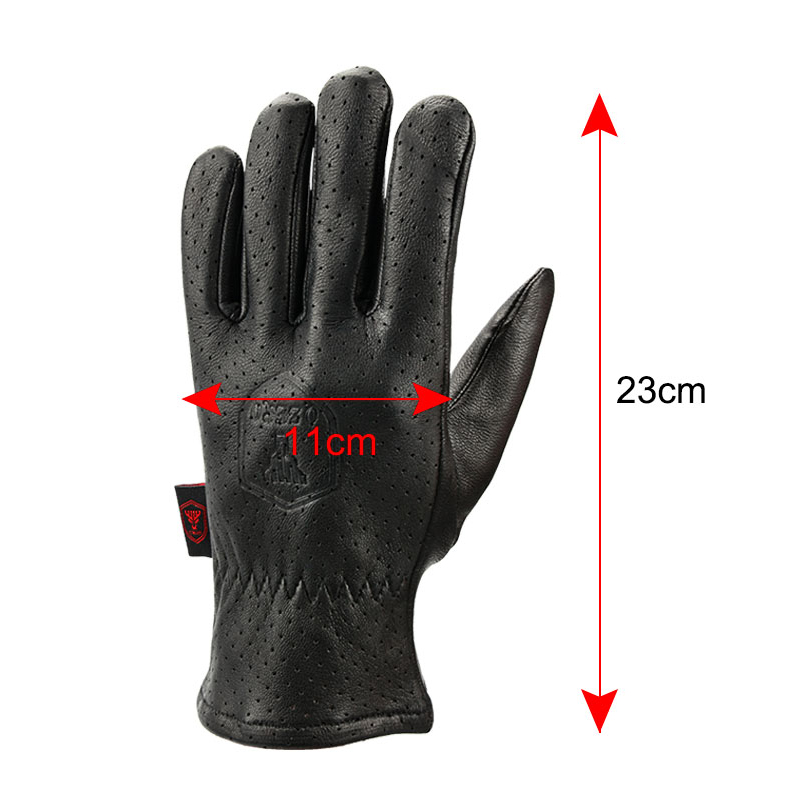 OZERO New Mens Moto Gloves The Breathable Driver Goat Leather Motorcycle Gloves Anti Hiking Hunting for Men 7005