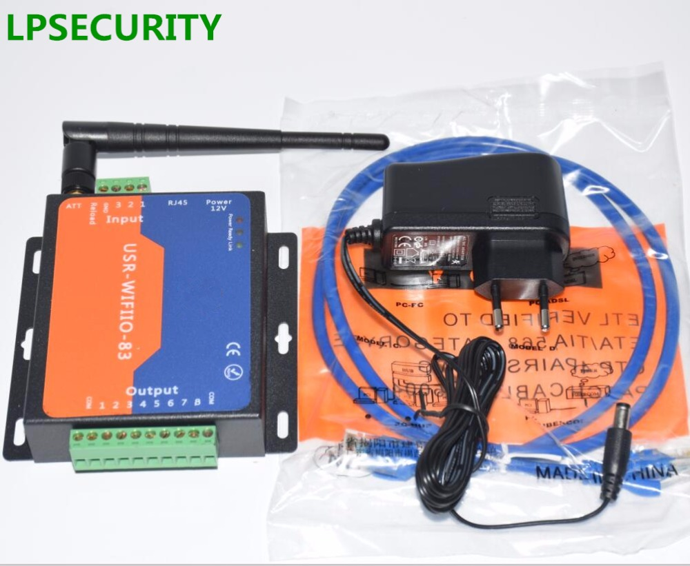 LPSECURITY 8 CHANNELS Industrial WIFI Ethernet Relay 8 Channel