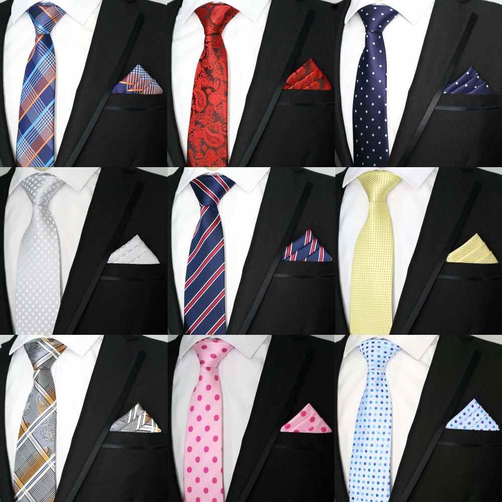 b7abc038fb36 67Color Men Tie Set Classic Polyester Silk Business Wedding Stripe Dots  Paisley Ties Handkerchief Sets Pocket