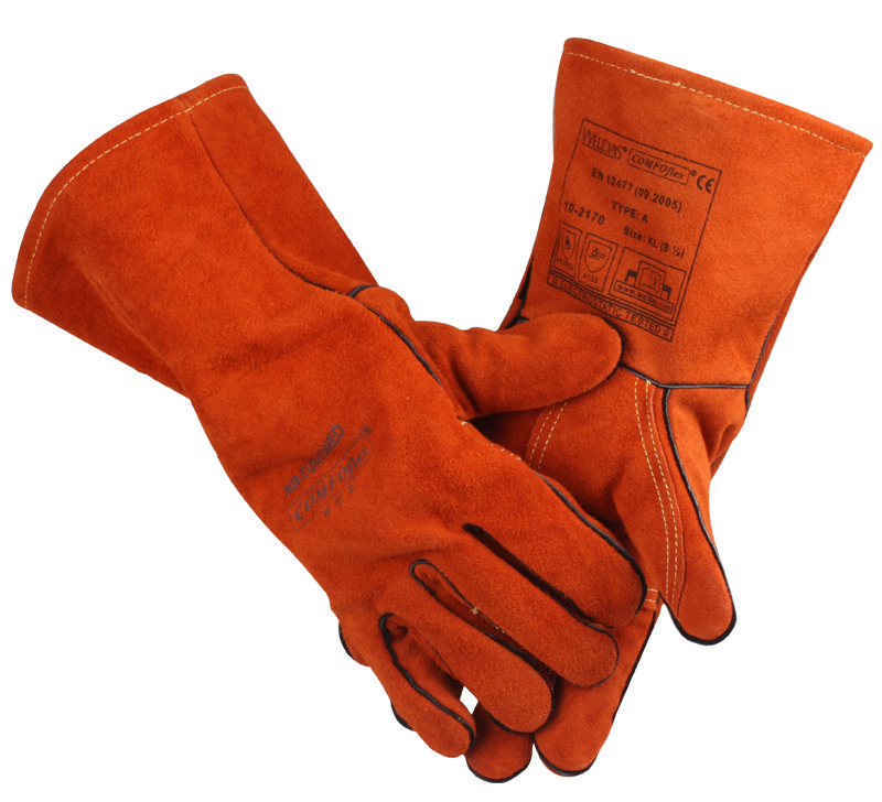 Weldas 10 - 2170 split cow leather welding gloves high temperature resistant work glove cowhide safety gloves gigaset gigaset a510 ip