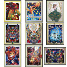 5D special diamond embroidery, diy paint, rhinestone painting, shaped diamonds, animal, owl painting