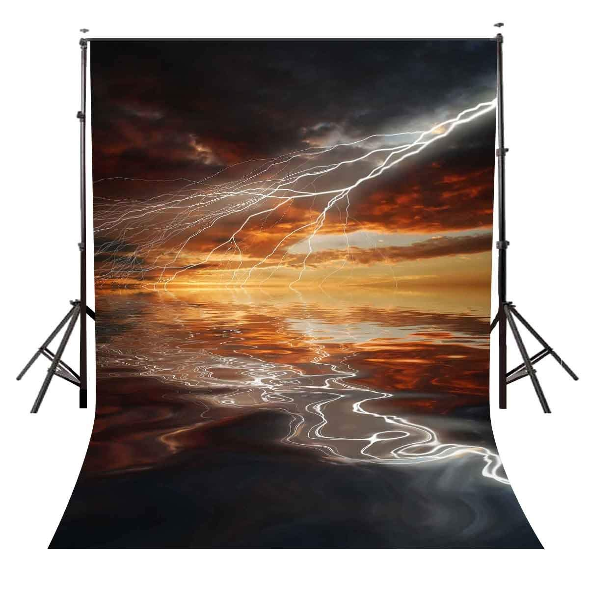 150x220cm Lightning Backdrop Dark Clouds Lighting Character Theme Party Photography Background in Photo Studio Accessories from Consumer Electronics