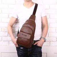 Brand New Genuine Leather Casual Chest Pack Sling Bag Men Crossbody Shoulder s Men's Messenger Travel For Cell Phone