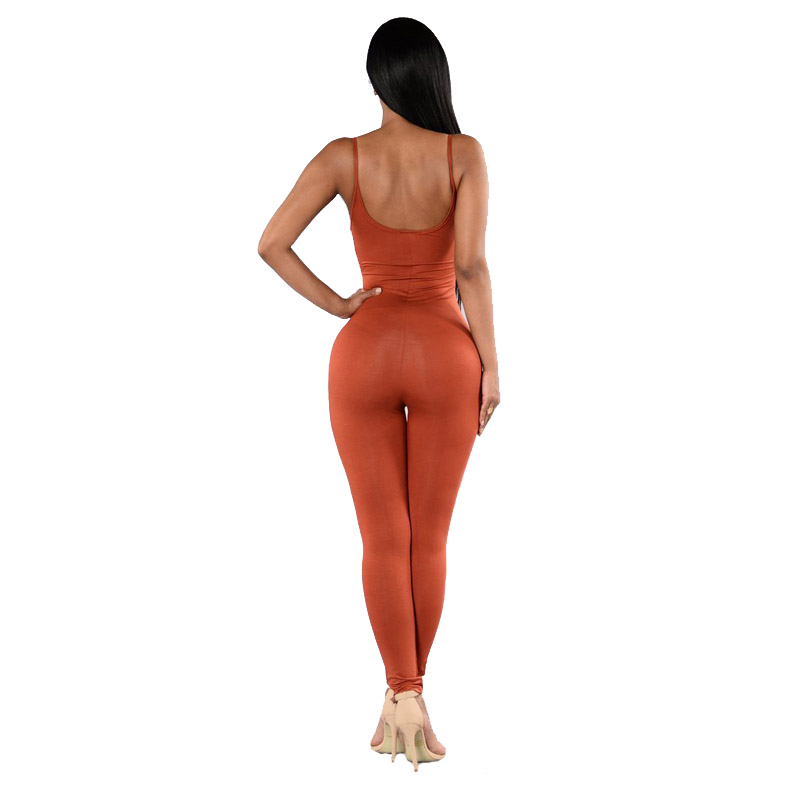 купить Sexy Sleeveless Backless Bodysuit Overalls 2018 Women One Piece Jumpsuits Yoga Suit Long Pants Fitness Workout Leggings Tights по цене 762.25 рублей
