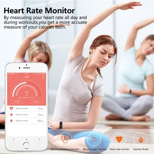 Image 4 - NAIKU Fitness Tracker F1 Sleep Tracker Smart Bracelet Heart Rate Monitor Waterproof Smart Band Activity Tracker for iPhone