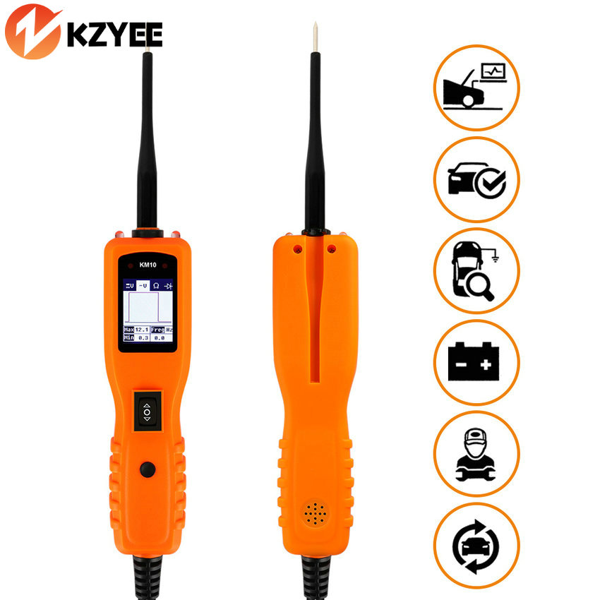 Electrical System Diagnostics Automotive Tool KM10 Auto 12V Power Probe More Powerful Car Electric Circuit Tester as PT150 YD208 стоимость