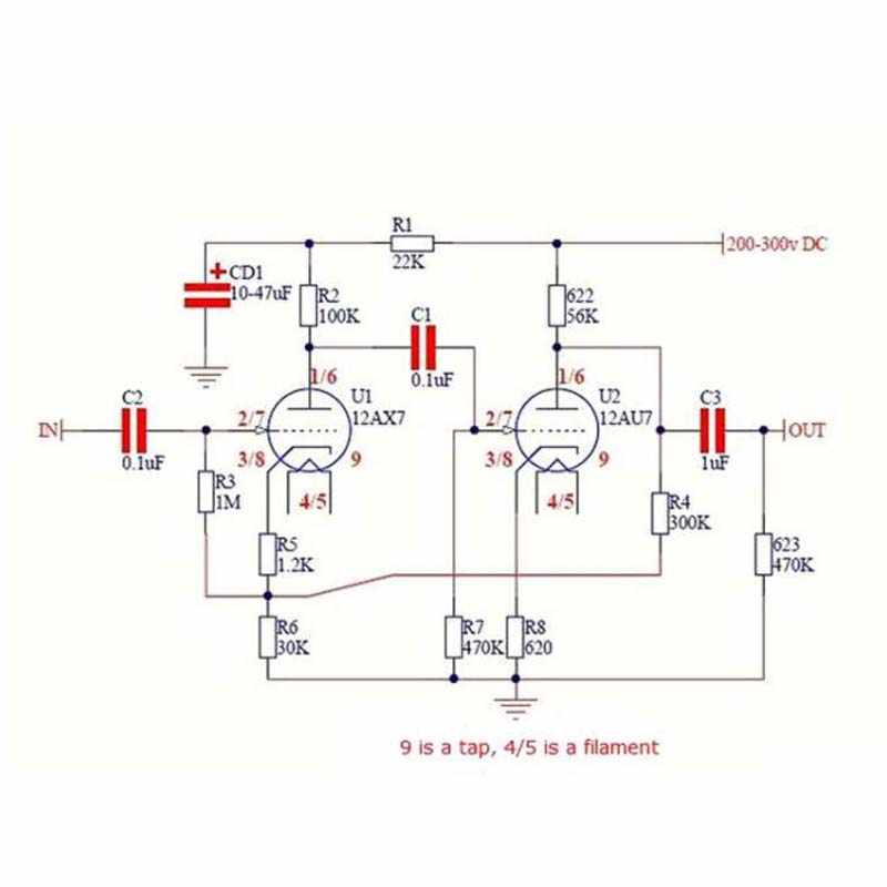 DIY Kits Classic Circuit Tube Preamplifier Preamp Amplifier Board For 12AX7 21AU7 Tube Amplifier