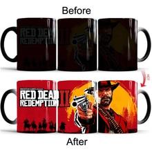 Red Dead Redemption 2 PS4 Кофе кружки Magic Температура термочувствительных Кубок Чай молоко чашки Офис школы креативный подарок