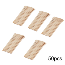 50PCS/10PCS שעווה שעוות עץ חד פעמי במבוק מקלות מרית לשון Depressor ערכת יופי כלי שיער הסרת קרם מקריח