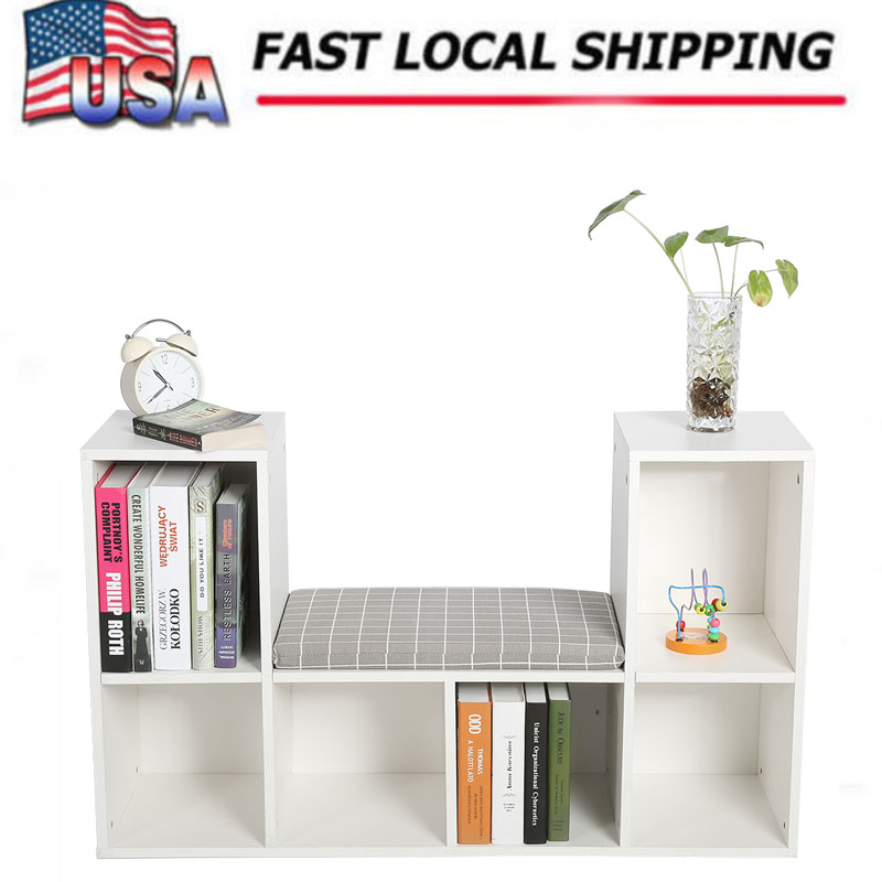 Multi-functional Wooden Storage Shelf Bookshelf Bookcase with Reading Nook Home Office Use New bookcases living room furniture