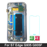 For SAMSUNG Galaxy S7 Edge G935 G935F LCD Touch Screen Digitizer Display with Frame For Samsung S7 Edge LCD Replacement Parts
