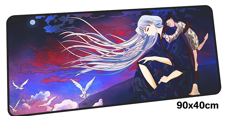 inuyasha mouse pad gamer 900x400mm notbook mouse mat gel large gaming mousepad cool new pad mouse PC desk padmouse accessories