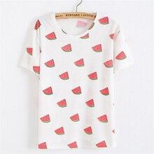 2016 fashion women summer t shirt Female harajuku watermelon banana Ice cream Cartoon printed t-shirts girls kawaii basic tops