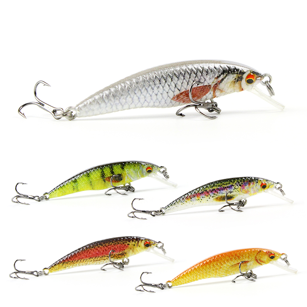 5 Color 2.5/2.4g Mini Minnow Fishing Lure Realistic Fish Bait Unique Body Texture Fishing Tackle Pesca Wobbler HML12A mmlong 12cm realistic minnow fishing lure popular fishing bait 14 6g lifelike crankbait hard fish wobbler tackle pesca ah09c