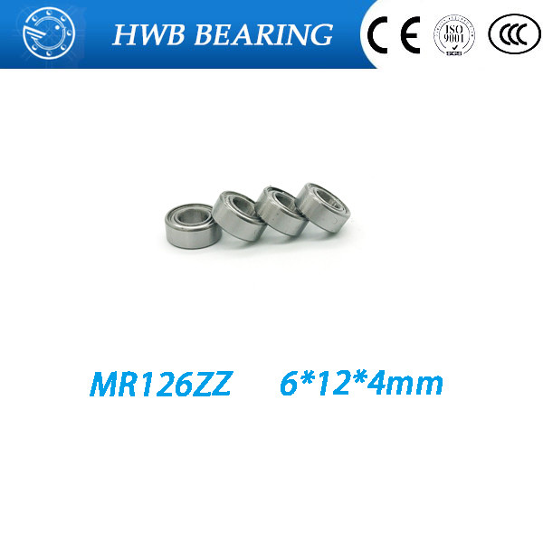 <font><b>MR126ZZ</b></font> MR126 ZZ MR126-2Z MR126Z ABEC-5 6X12X4 mm Free Shipping 10pcs Deep groove Ball Bearing MR126 / L1260 ZZ image
