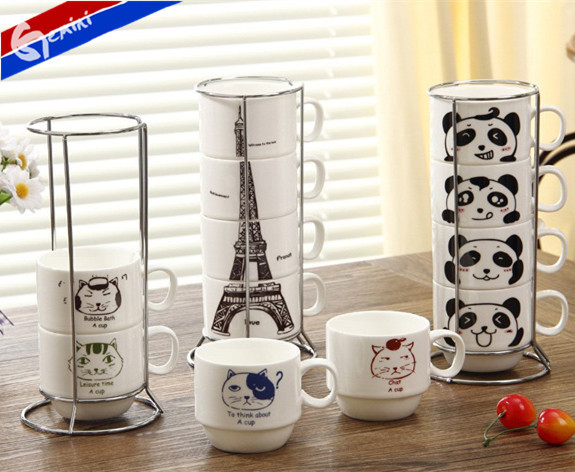 Traje de la familia la torre Eiffel taza de café de cerámica taza ...