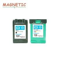2pcs For HP Cartridge 131 135 Ink Cartridge For HP Deskjet 460 5743 5940 5943 6843