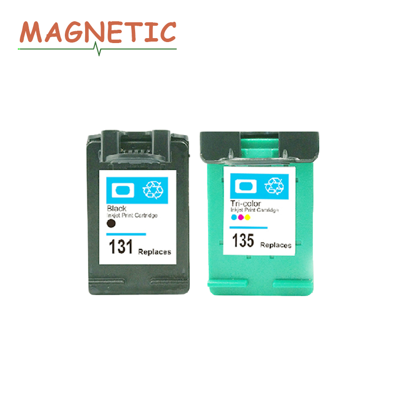 Magnetic Compatible ink cartridges For HP 131 135 460 5743 5940 6843 6940 Photosmart 2573 2613 8753 PSC 1600 1613 2350 Printer картридж goodwill gw c8767he 130 black для hp photosmart 2573 2613 2713 compatible