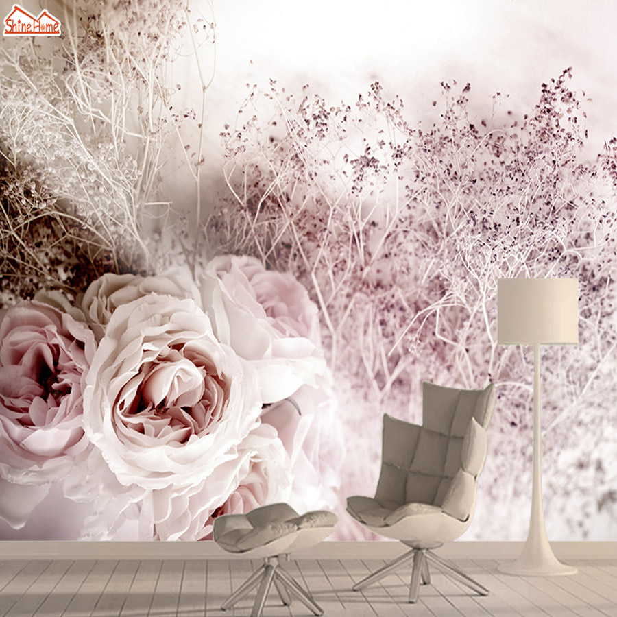 Rose Tree 3d Photo Nature Mural Wallpaper Wallpapers For Living Room Bedroom Wall Paper Papers Home Decor Shop Walls Murals Roll