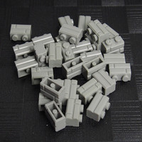 1000/750/500pcs Legoing MOC Part Basic Pieces 1X2 City House Wall Block Bricks Light Gray Creativity Educational Toy For Kid